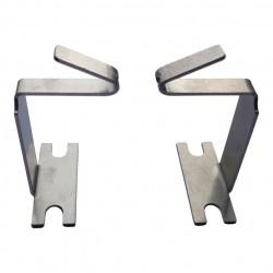 Paire de pattes de fixation sur paroi horizontale